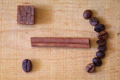 Coffee emoticon Stock Photo
