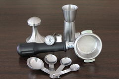 Coffee equipment. There equipments use in conjunction with coffee maker Stock Images