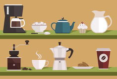 Coffee equipments Royalty Free Stock Photos