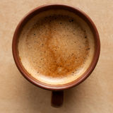 Coffee espresso. On brown table Stock Images