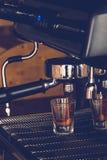 Coffee. Espresso machine brewing a coffee Stock Photo