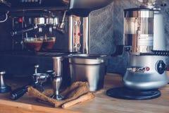Coffee. Espresso machine brewing a coffee Royalty Free Stock Image