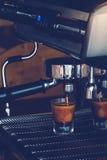 Coffee. Espresso machine brewing a coffee Stock Photography