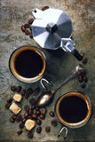 Coffee and Espresso maker royalty free stock image