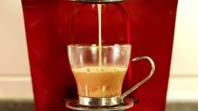 Coffee espresso preparation stock video