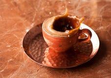 Coffee espresso splash Royalty Free Stock Photo