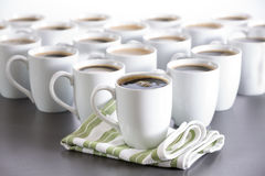Coffee for everyone in the office, bistro coffee cups in order Stock Photo