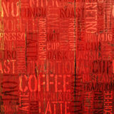 Coffee Experience Words On Red. Vector stock illustration
