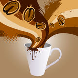 Coffee explosion Stock Photography