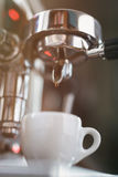 Coffee extraction process from professional Royalty Free Stock Images