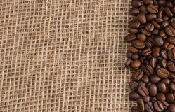Coffee on fabric background Stock Photo