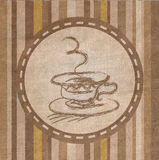 Coffee Fabric  texture Royalty Free Stock Photography