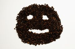 Coffee face Royalty Free Stock Photos