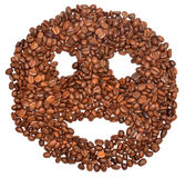 Coffee face Stock Image