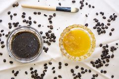 Coffee face scrub Royalty Free Stock Image