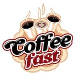 Coffee fast drink Royalty Free Stock Images