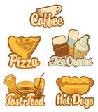 Coffee and fast food Stock Photography