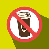 coffee fast food unhealth prohibited Stock Images