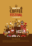 Coffee Festival poster concept. Vector Illustration Stock Image