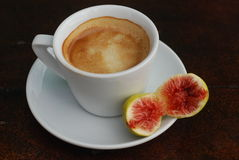 Coffee and fig Stock Photos