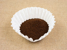 Coffee in filter Royalty Free Stock Images
