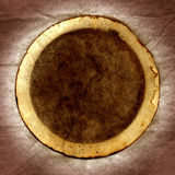 Coffee Filter. This is a scan of a used coffee filter on a grunge background royalty free stock images