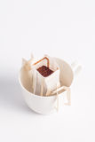 Coffee-filter bag Stock Photos