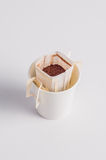 Coffee-filter bag Stock Photography