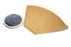 Coffee filter and pad Royalty Free Stock Images