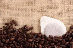 Coffee filter stock photography