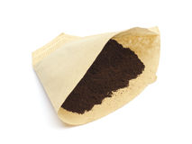 Coffee Filter with Powder Stock Images