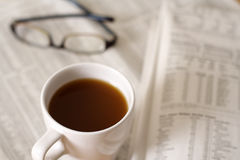 Coffee and finance Royalty Free Stock Photos