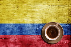 Coffee and flag Royalty Free Stock Photo