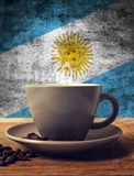 Coffee and flag Royalty Free Stock Photos