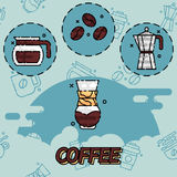 Coffee flat concept icons Stock Photo