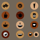 Coffee flat icon in  Royalty Free Stock Photography