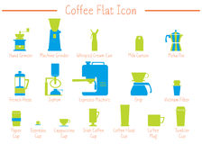 Coffee flat icon Royalty Free Stock Photography