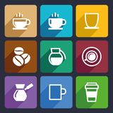 Coffee Flat Icons Set 43 Royalty Free Stock Images