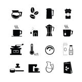 Coffee flat icons vector Royalty Free Stock Images