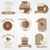 Coffee flat and vintage label design Stock Photo