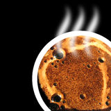 Coffee flavor. Design of a hot cup of coffee Royalty Free Stock Photos