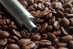 Coffee Flavor E-Juice concept royalty free stock photos