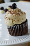 Coffee flavored cupcake Stock Photography