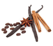 Coffee and Flavouring Ingredients Stock Photo