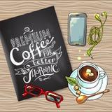 Coffee flayer Royalty Free Stock Photo