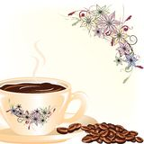 Coffee with floral Stock Photography