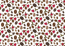 Free Coffee Flowers And Berries Pattern Illustration Royalty Free Stock Image - 67164506