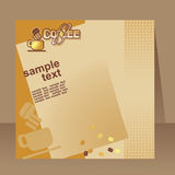 Coffee flyer, brochure Royalty Free Stock Image