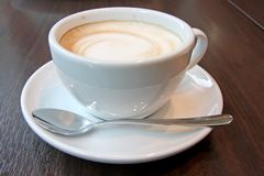 Coffee with foam Stock Photography