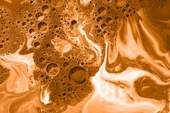 Coffee foam or cappuccino background Stock Photos